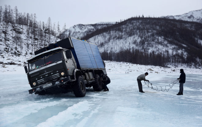 Buckle Up for a Perilous Drive on a Frozen Siberian River