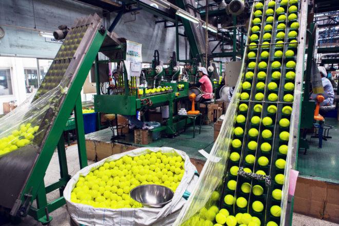 Tour the Factory That Cranks Out 90 Million Tennis Balls a Year