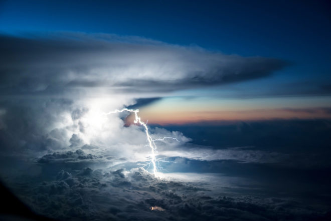 Incredible Photo Captures Lightning Ripping Through Clouds
