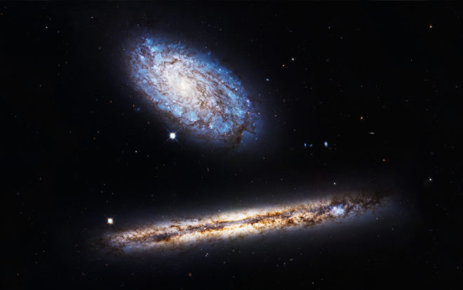 Space Photos of the Week: Galaxies That Pass Gas Together, Stay Together