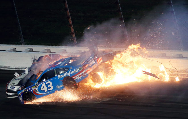 Photo of the Week: A Gnarly Nascar Pile Up in Kansas Ends in Flames